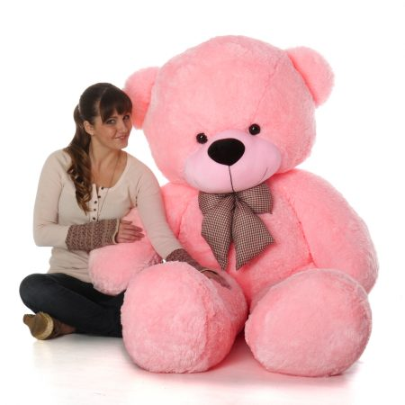 6_Foot_Life_Size_Teddy_Bear_Soft_Pink_Color_Sweet_Cuddly_Teddybear_Lady_Cuddles__77813.1463000528.1280.1280 copy